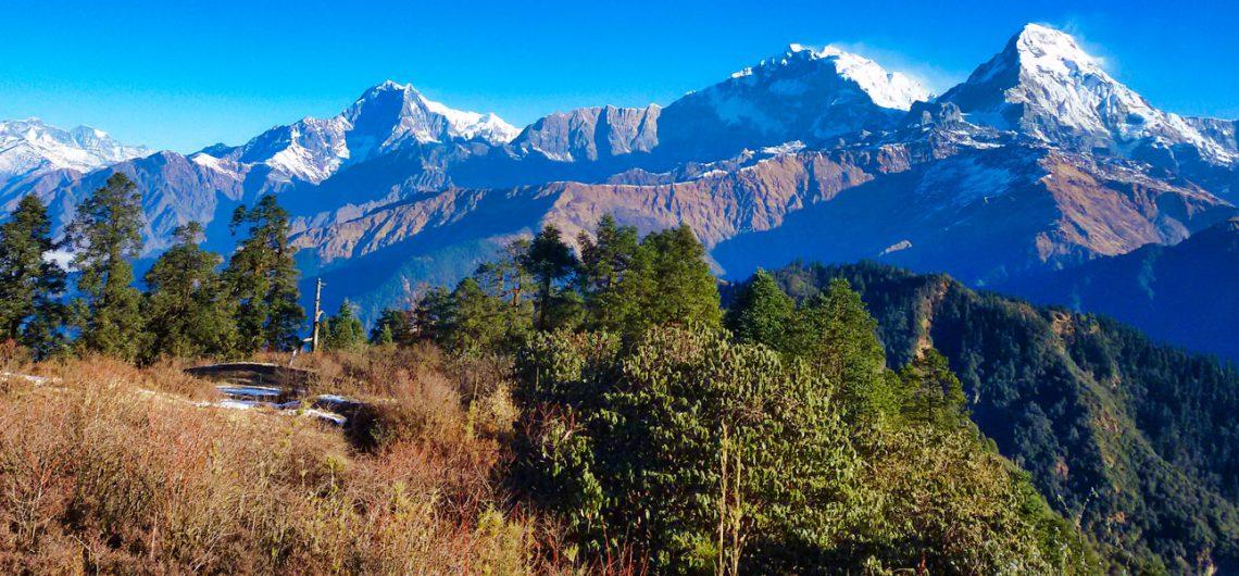Nepal adventure community trek view
