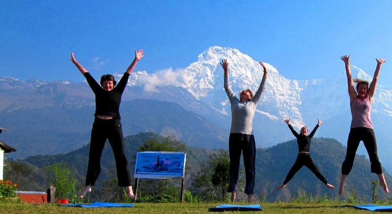 Yoga-retreat-class-Nepal